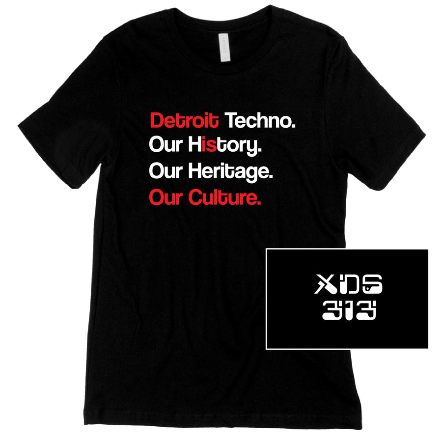 Custom Short Sleeve Detroit Techno DJ Combo Tee