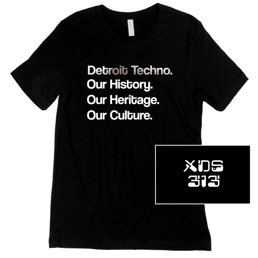 Custom Short Sleeve Detroit DJ List Tee w Accent