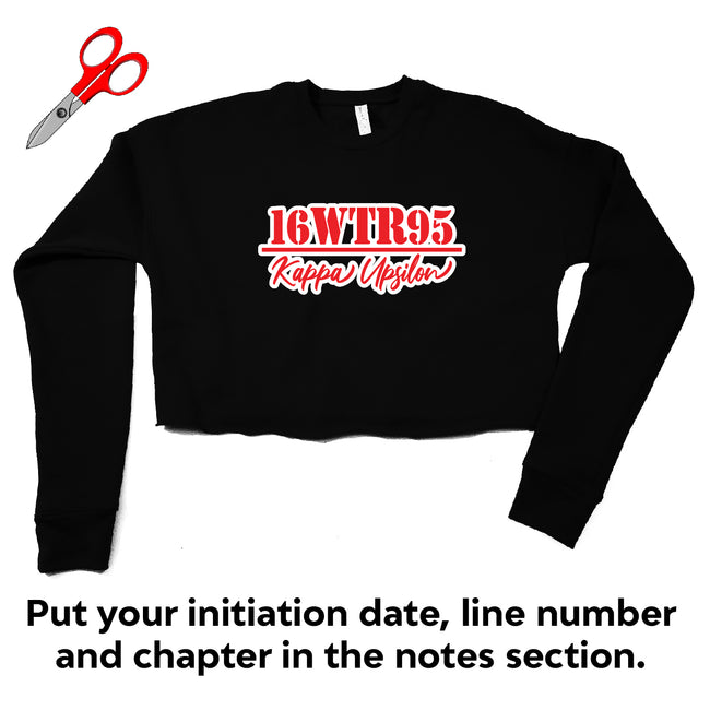 Initiation Chapter Cropped Fleece Sweatshirt