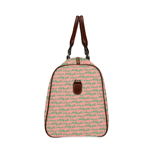 Pink Pretty Girl Waterproof Duffel Bag - Small