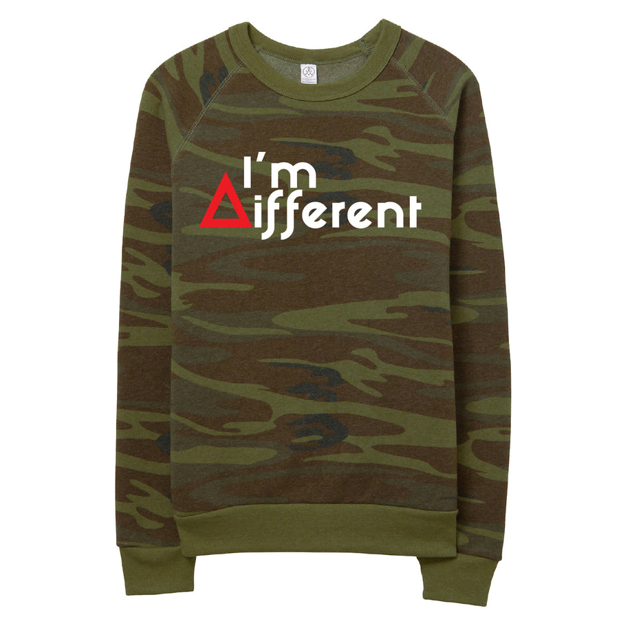 Camo I'm Different Sweatshirt