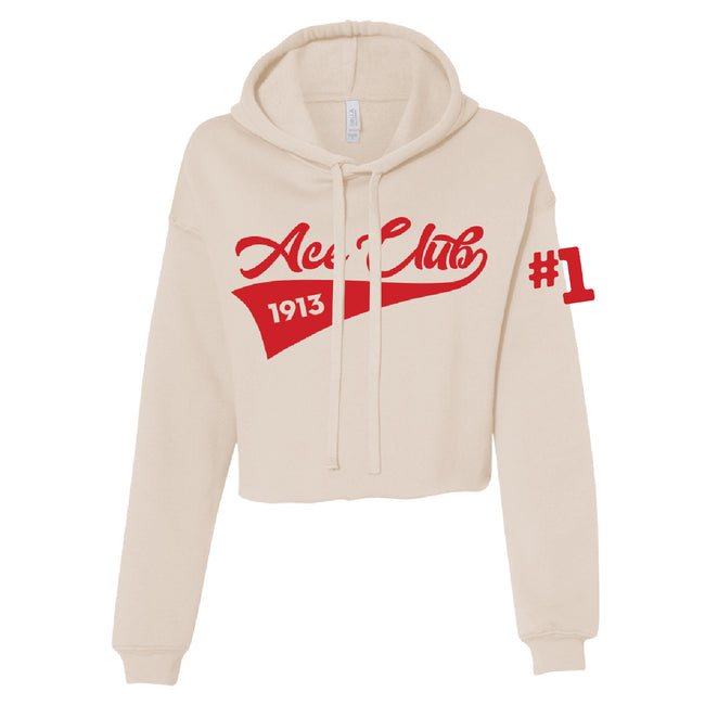 Ace Club Cropped Fleece Hoodie