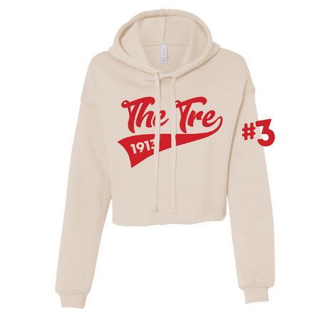 The Tre Cropped Fleece Hoodie