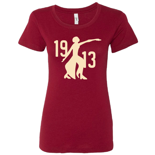 Short Sleeve Crimson Fortitude 1913 Tee