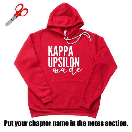 "Customizable Chapter ""Made"" Fleece Hoodie"