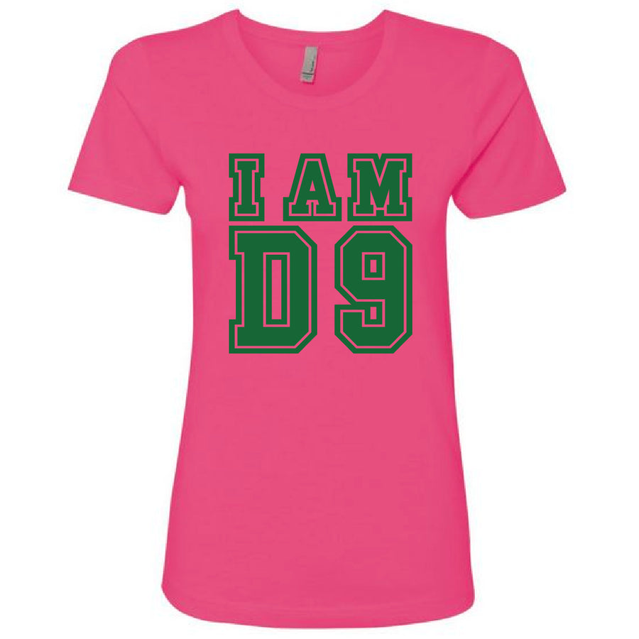 Custom Short Sleeve I AM D9 Tee Boyfriend Fit (Sororities Only)