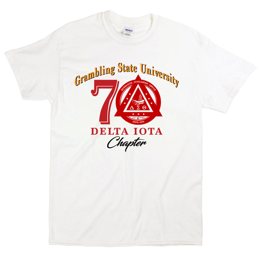 Custom Short Sleeve Delta Iota 70th Anniversary Tee