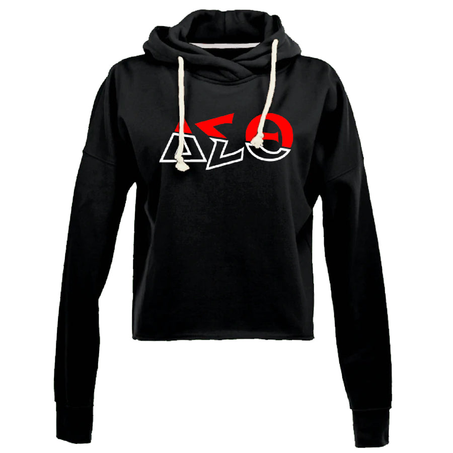 Spliced DST High Low Fleece Hoodie