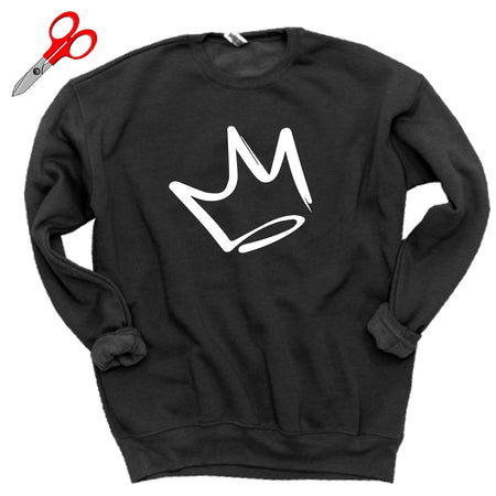 Abstract Crown Fleece Sweatshirt