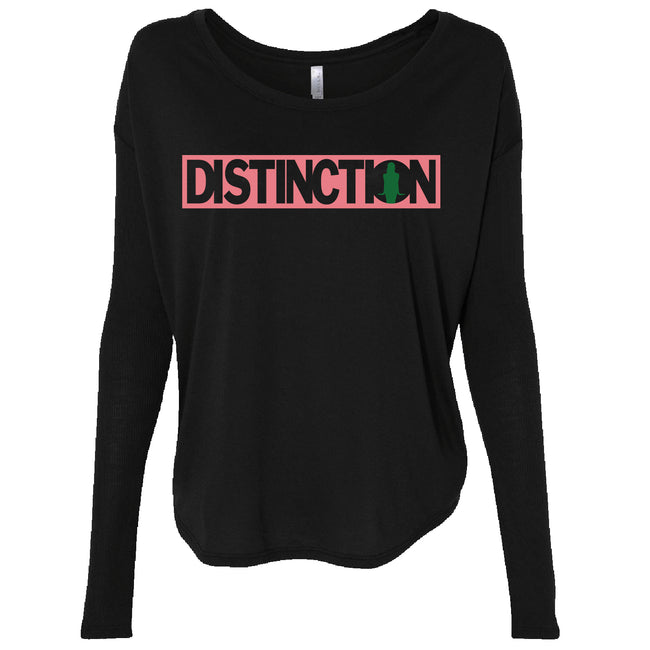 Distinction Box Rib Sleeve Slouch