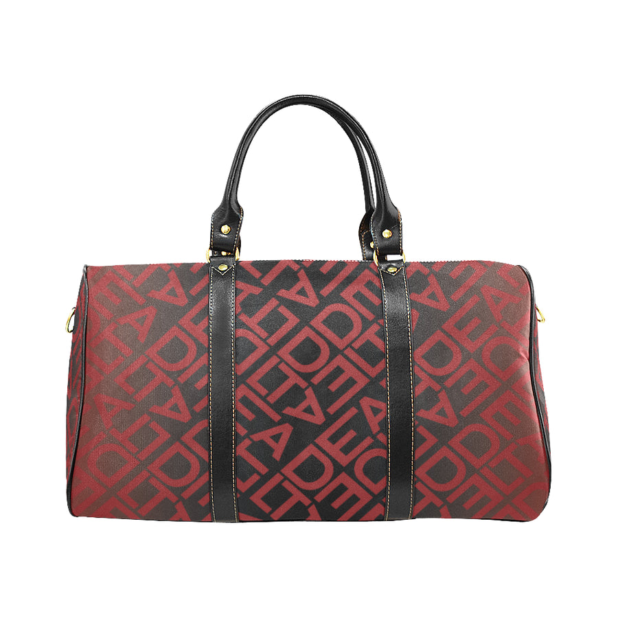 Square Delta Black Red Duffel Bag II