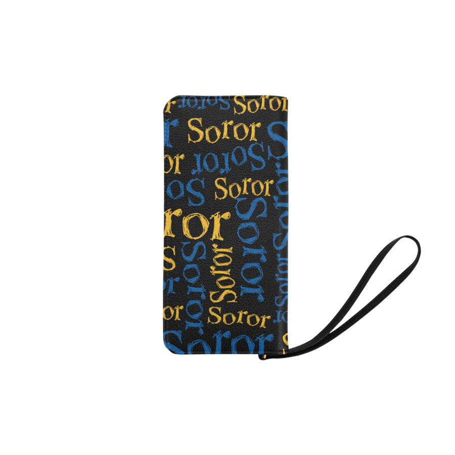 Sigma Soror Zip Clutch