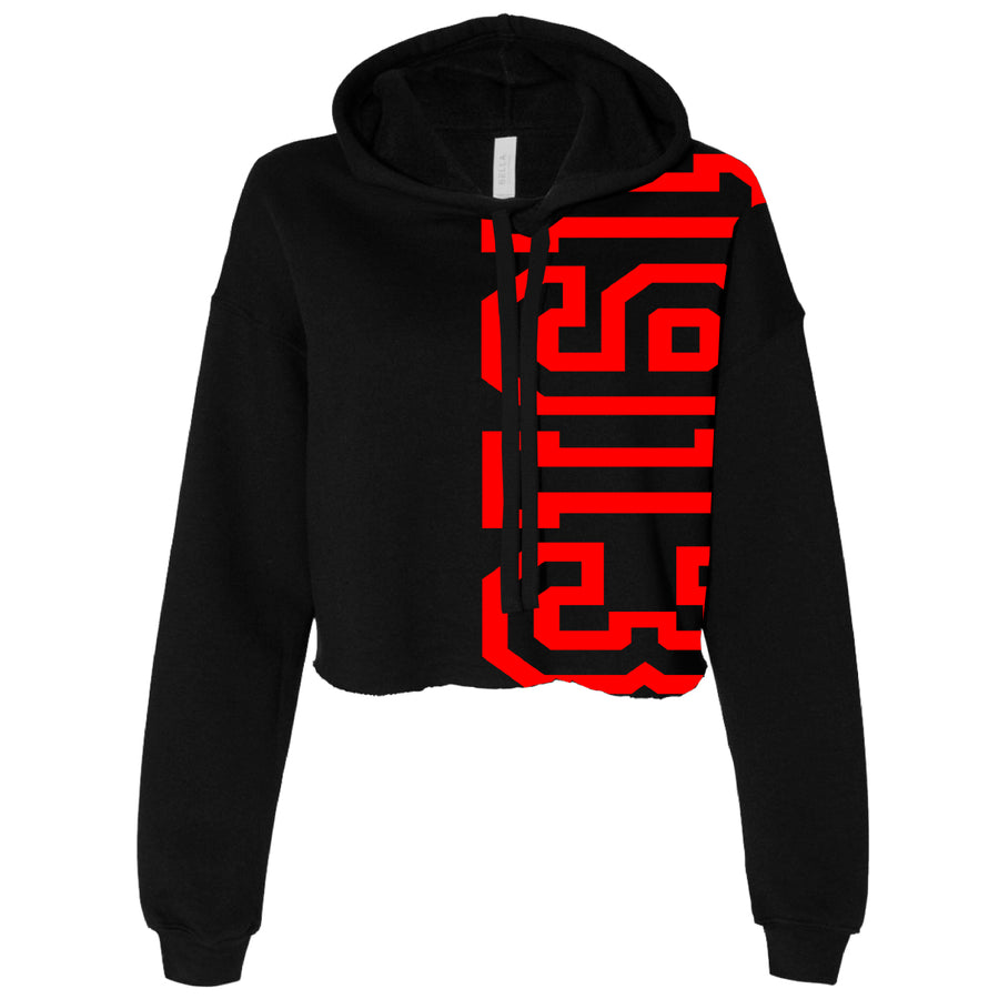 Exploded 1913 Cropped Fleece Hoodie