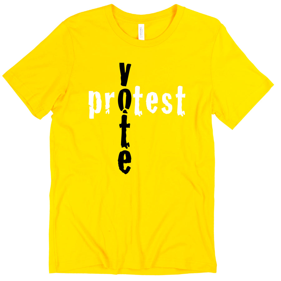 Short Sleeve Vote Protest Mens Tee