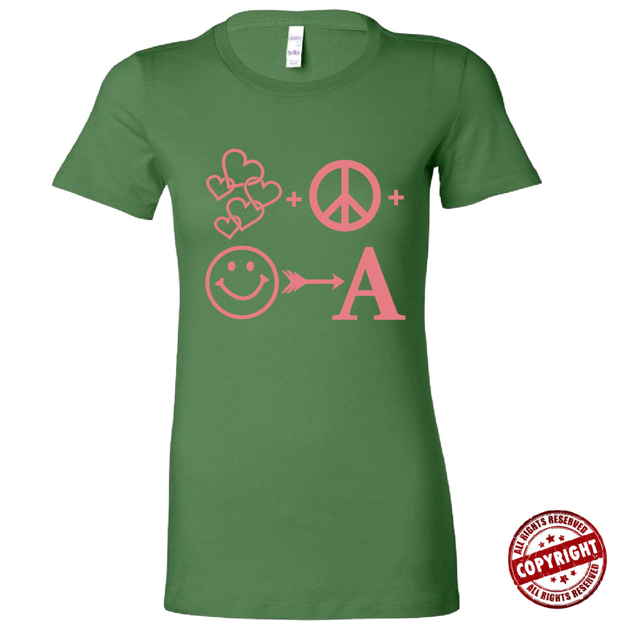 Short Sleeve Green and Pink AOML Tee