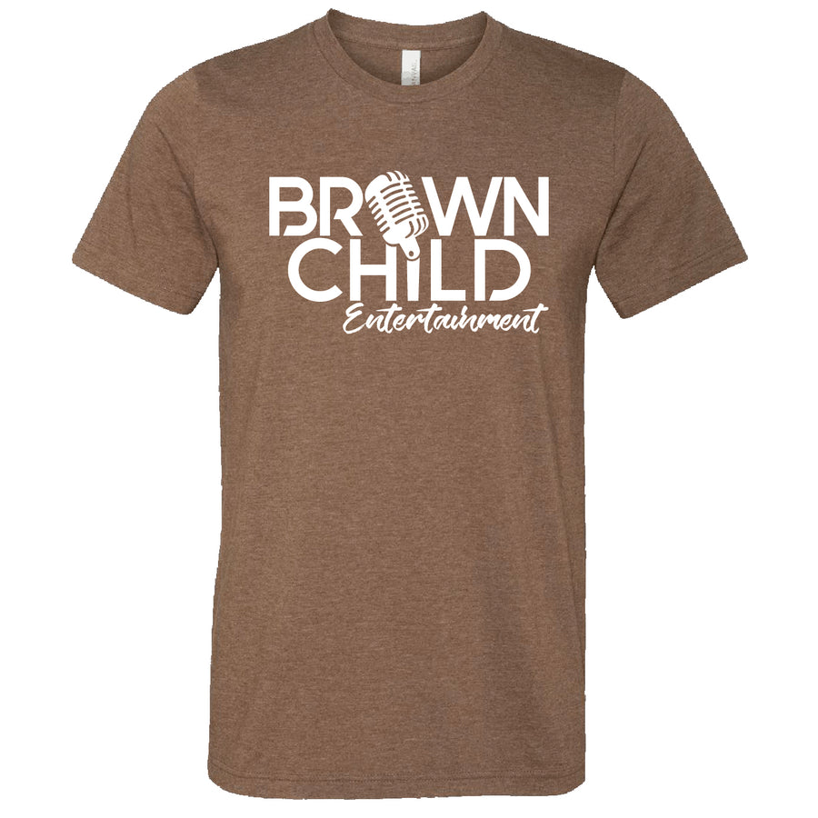 Custom Short Sleeve Mens Brown Child Ent Tee