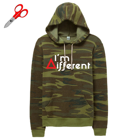 I'm Different Camo Fleece Kanga Hoodie