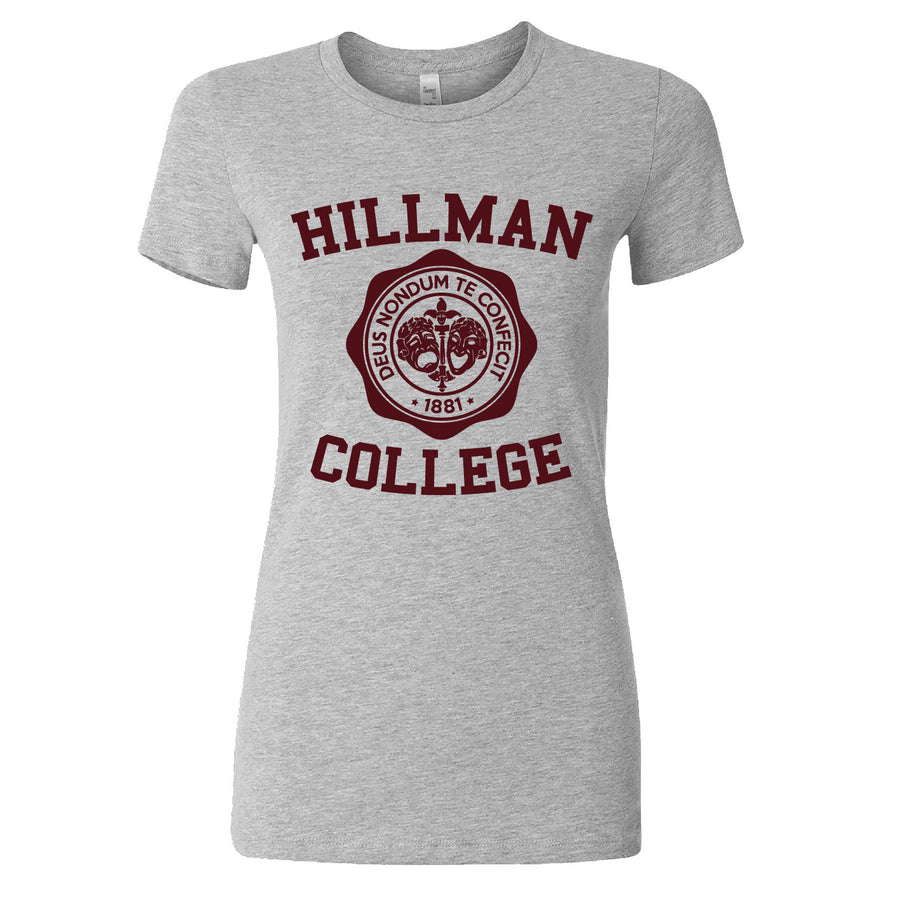 Short Sleeve Hillman College Ladies Tee