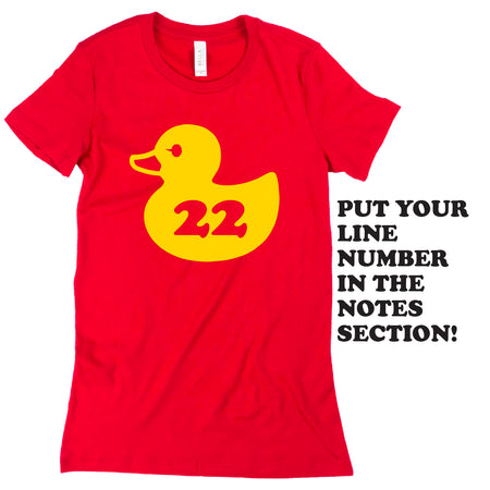 Short Sleeve Customizable Old School Duck Tee