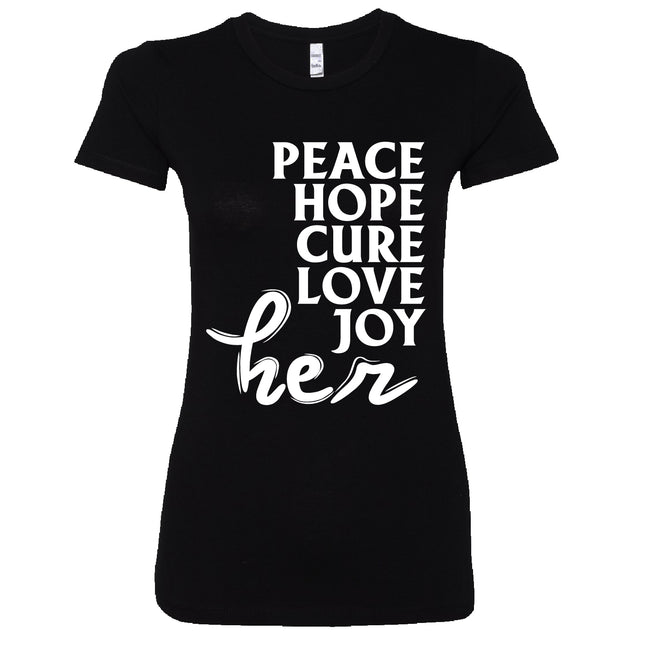 Short Sleeve Peace Hope Cure Love Joy Her Tee