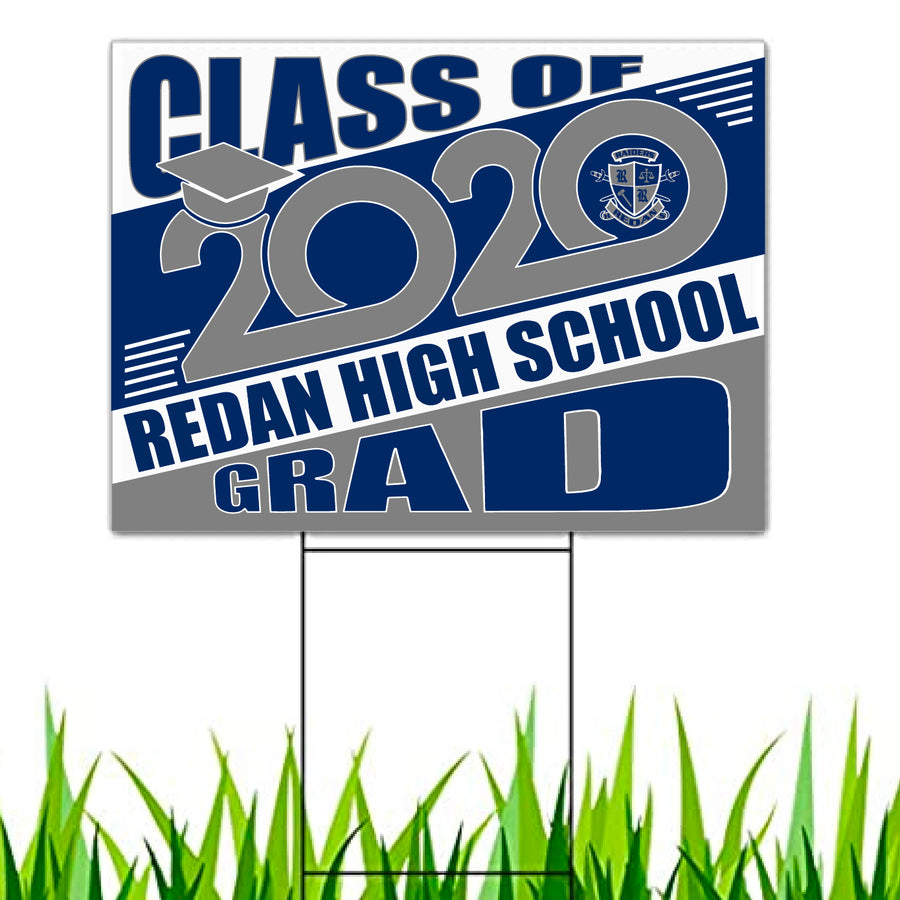 Redan High Class of 90 Yard Sign