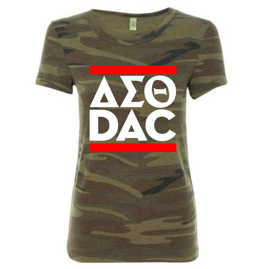 Custom Short Sleeve DST DAC Camo Run Crossing Tee
