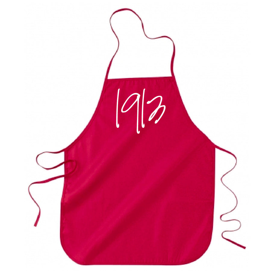 Red 1913 Apron