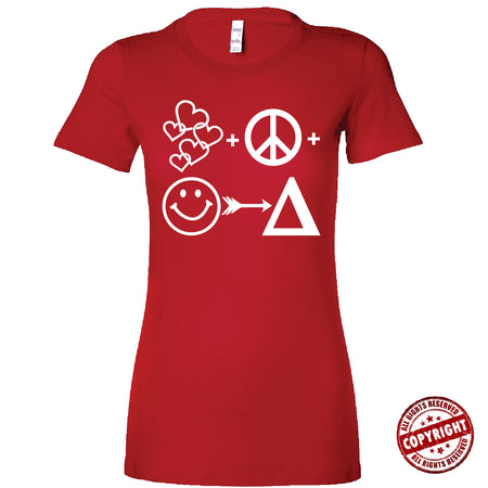 Short Sleeve Red and White AOML Tee