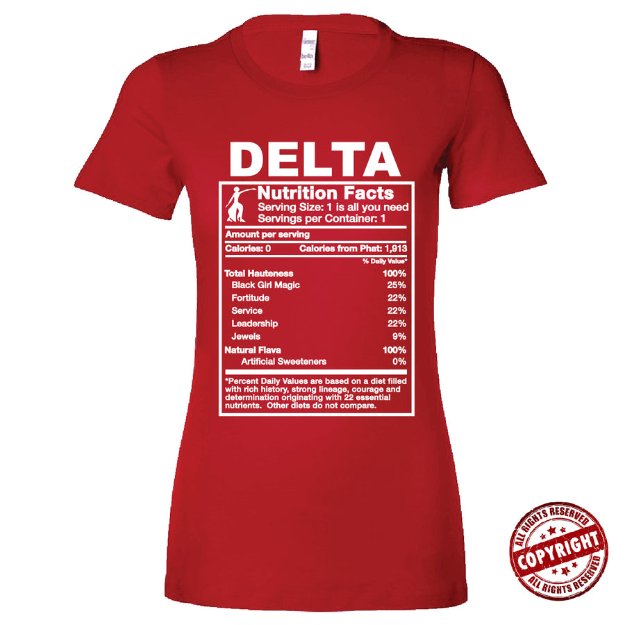 Short Sleeve Red Delta Ingredients Tee