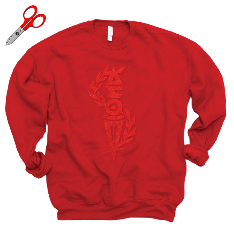 Metallic Torch of Wisdom Fleece Sweatshirt