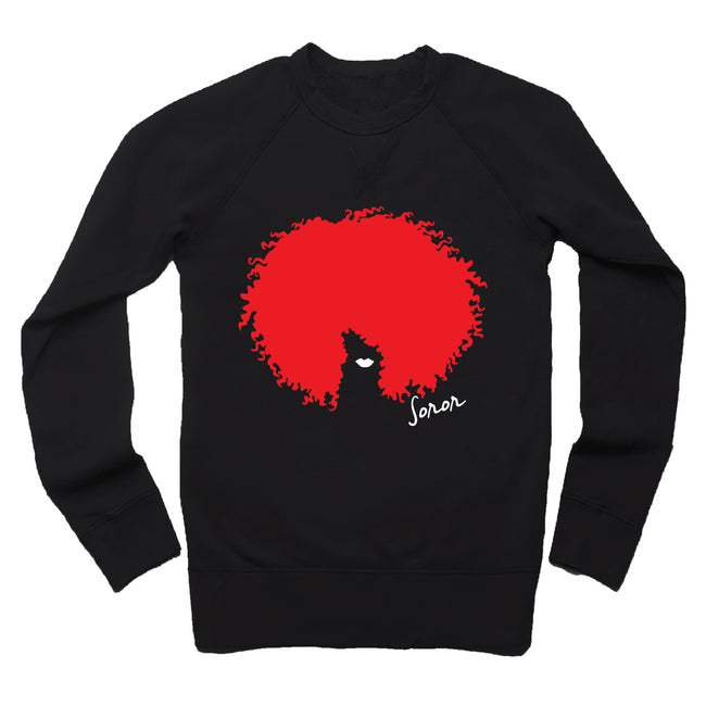 Red Afro Soror  French Terry Sweatshirt