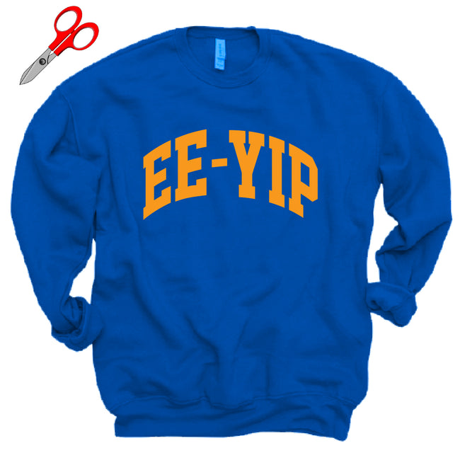 Royal Blue EE-YIP Fleece OVERSIZED Sweatshirt