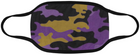 Purple and Gold Camo Mask Domestic Ship