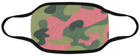 Pink and Green Camo Mask Domestic Ship