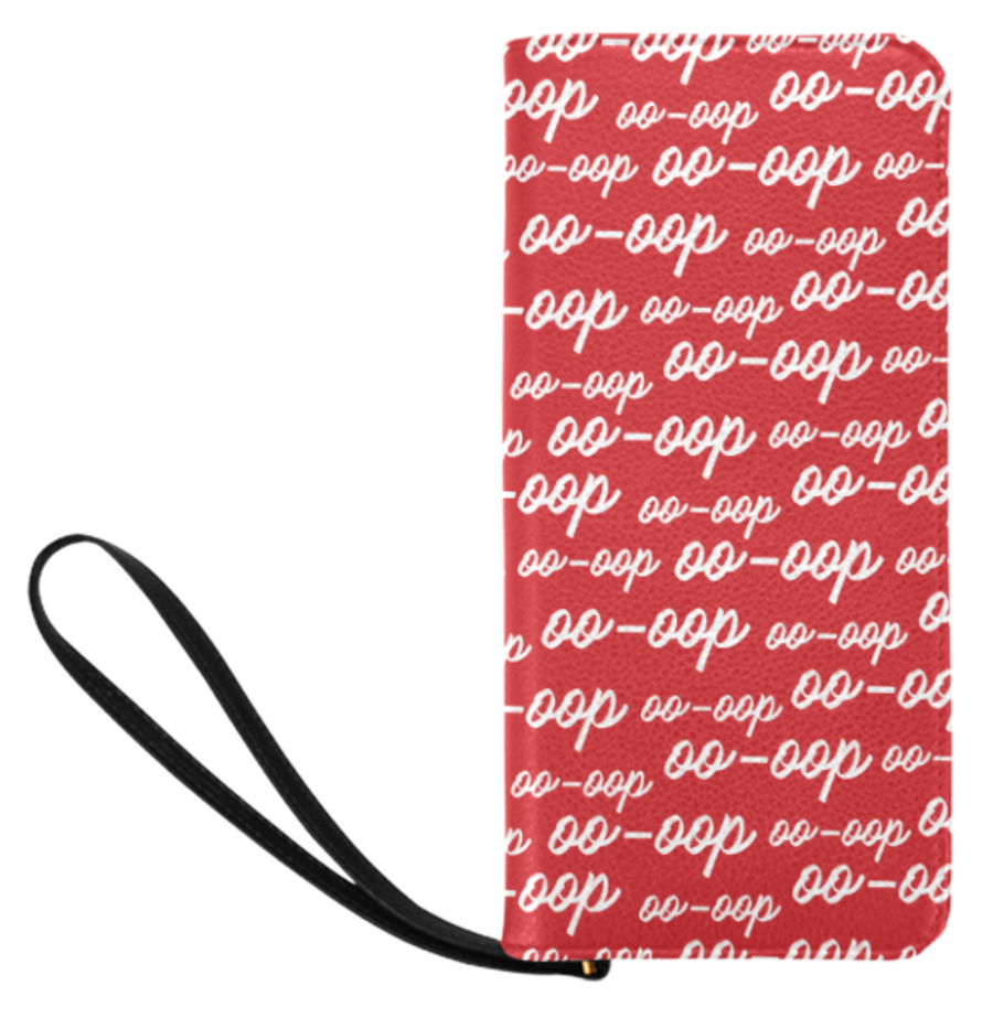 Red Oop Zip Clutch