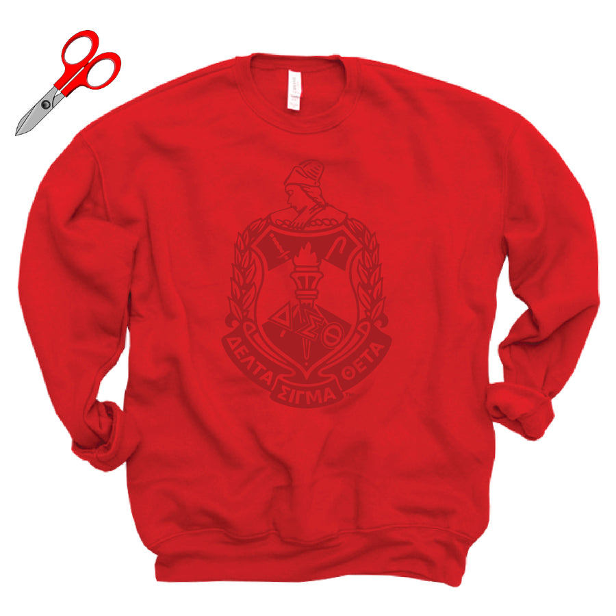 Metallic Crest Fleece OVERSIZED Sweatshirt