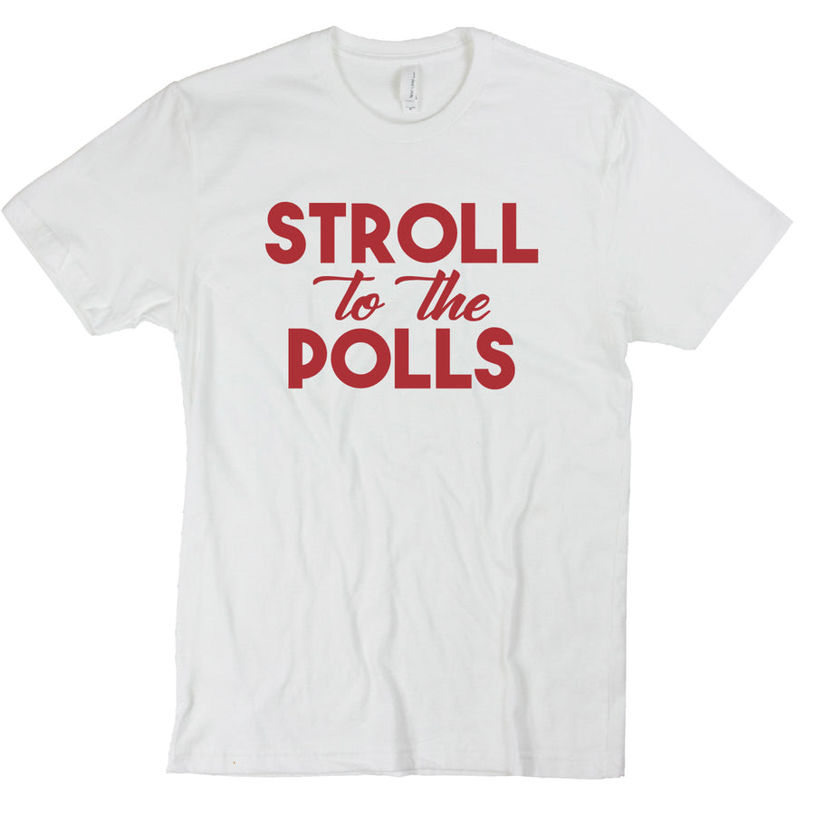 Custom Short Sleeve Stroll to the Polls V-Neck Tee