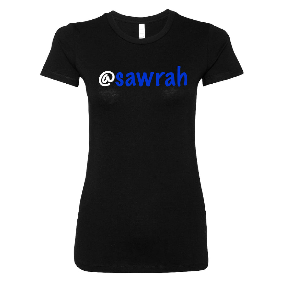 Short Sleeve Sawrah Tee - Blue and White Theme