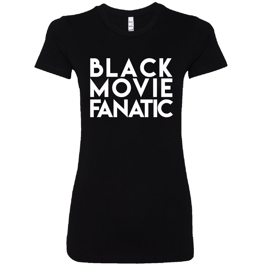 Short Sleeve Black Movie Fan Ladies Tee