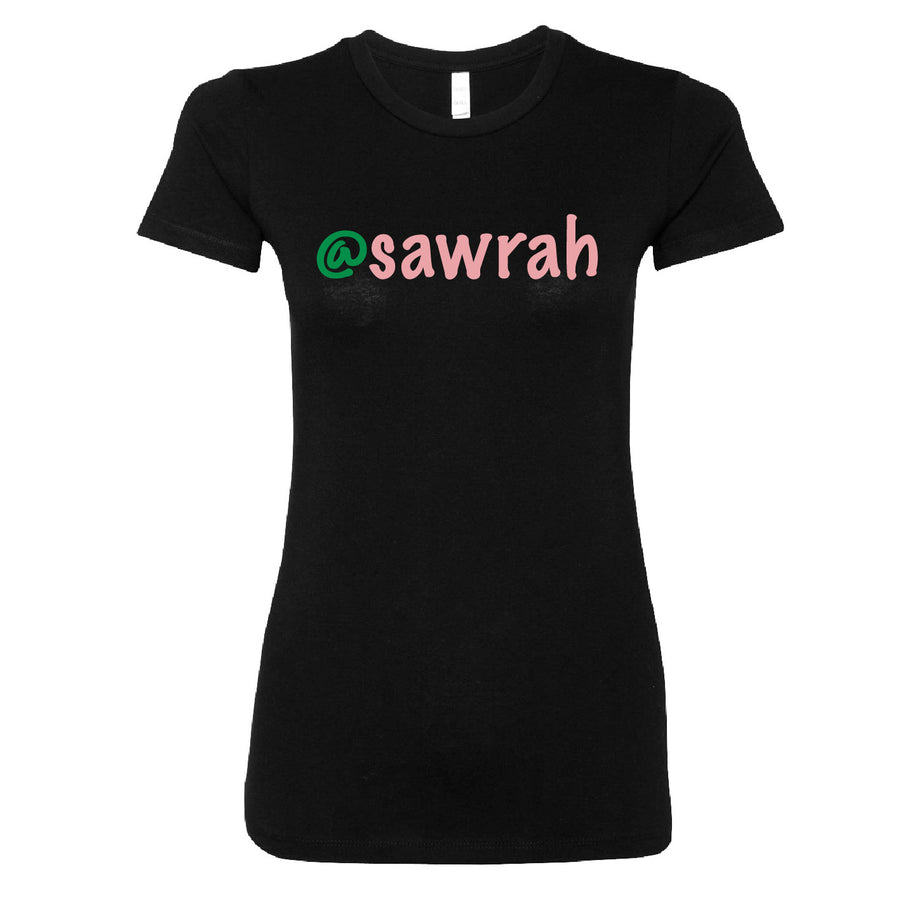 Short Sleeve Sawrah Tee - Pink and Green Theme