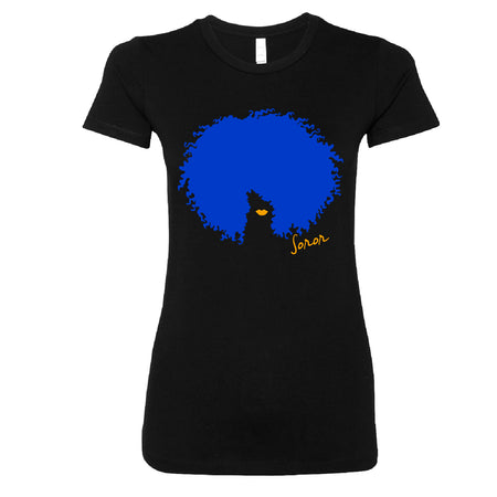 Short Sleeve Blue and Gold Afro Soror Tee