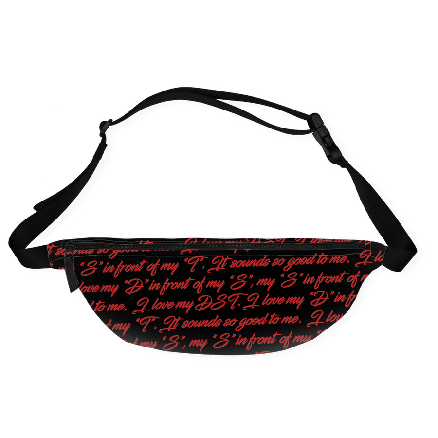 Black I Love My DST Fanny Pack