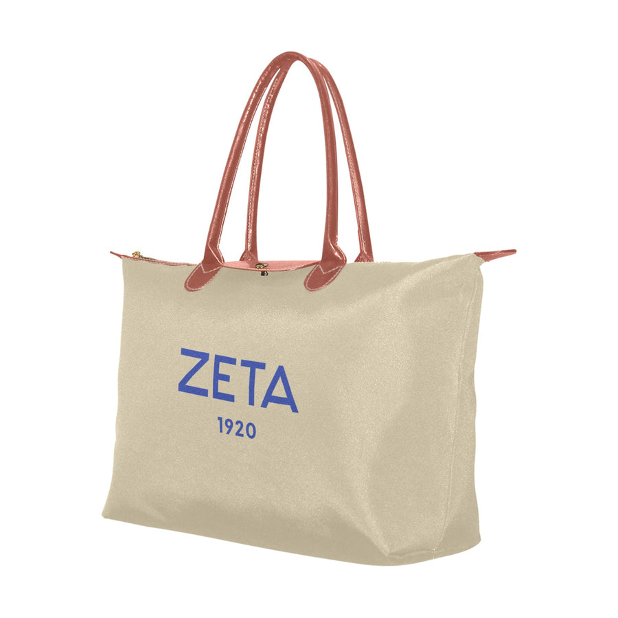 Natural Zeta 1920 Hobo Tote