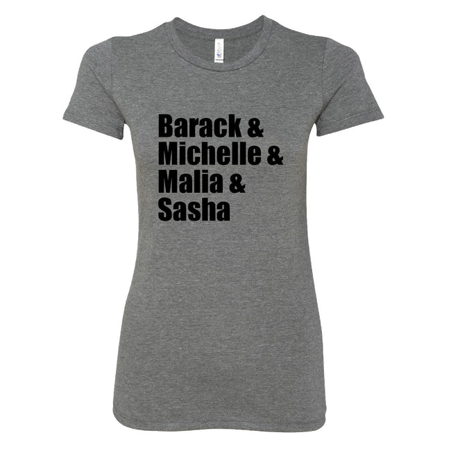 Short Sleeve Ladies Obama Family Tee