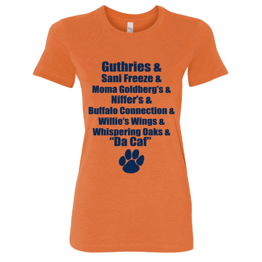 Short Sleeve Ladies Auburn Food Tee
