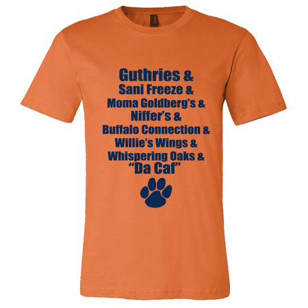 Short Sleeve Mens Auburn Food Tee