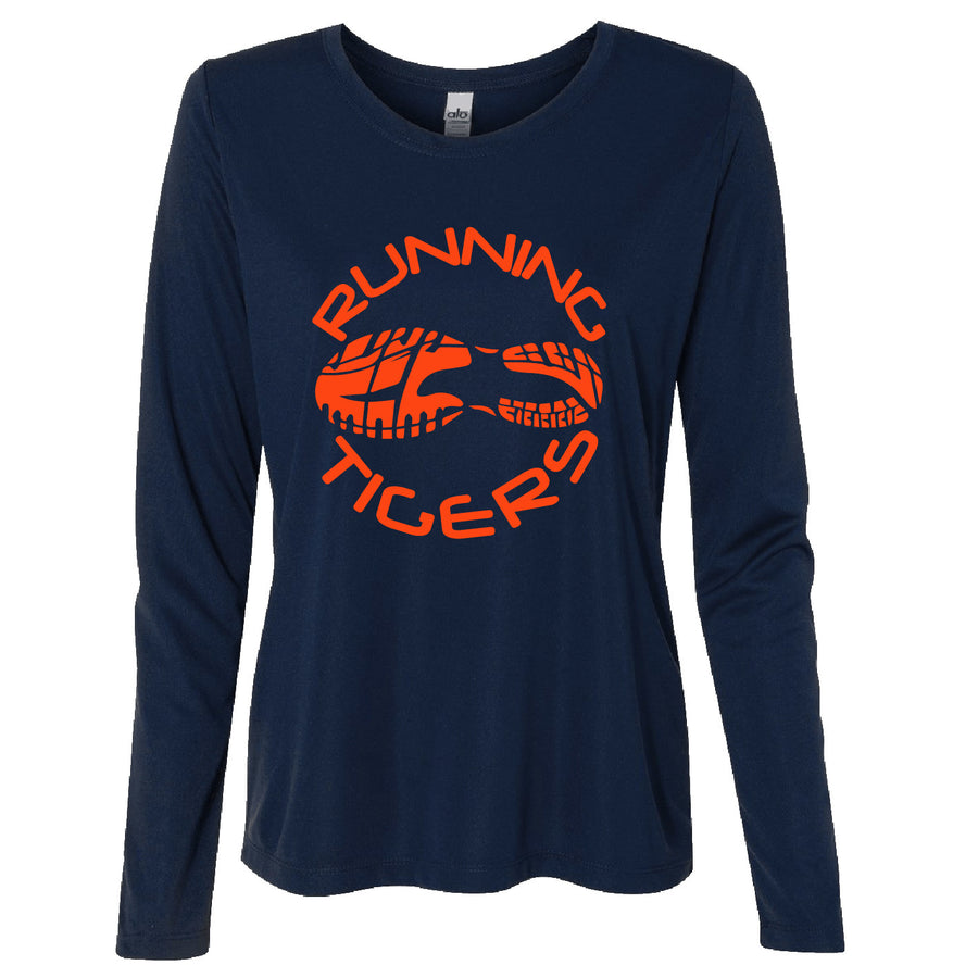 Long Sleeve Dri Fit Running Tigers Ladies Tee