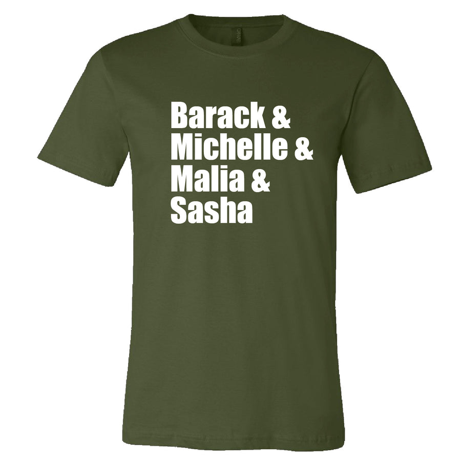 Short Sleeve Mens Obama Family Tee