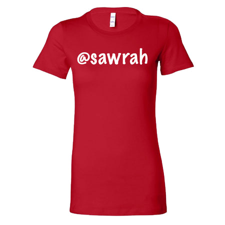 Short Sleeve Sawrah Tee - Red and White Theme
