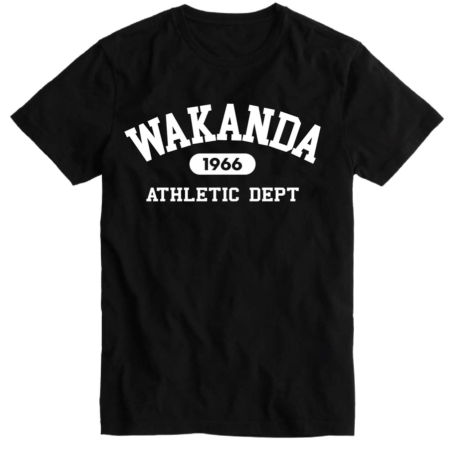 Short Sleeve Wakanda Athletics Mens Tee